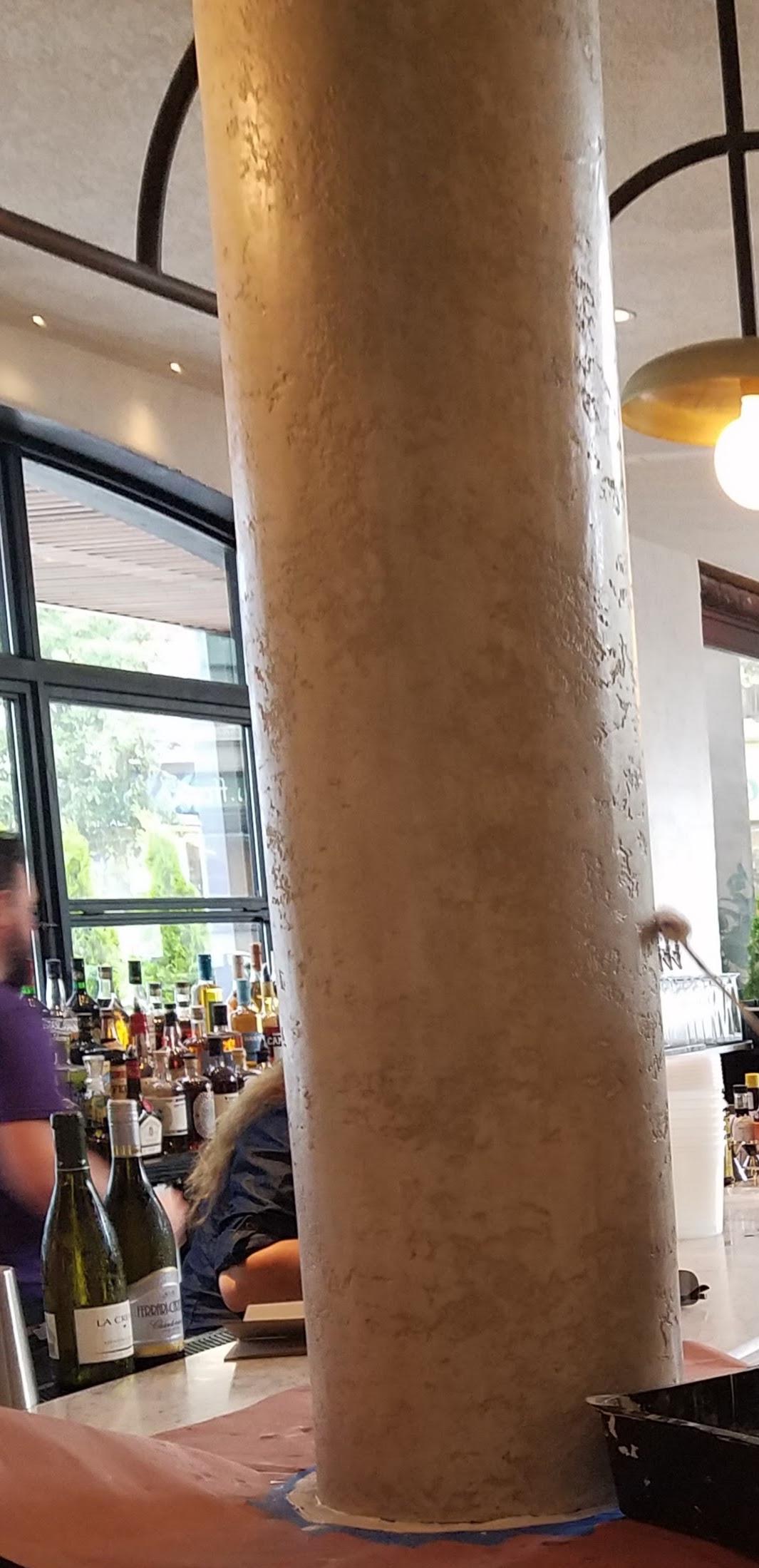 venetian plaster column